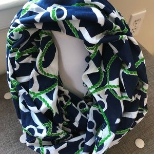 MUDPIE Nautical Anchor Lightweight Infinity Scarf